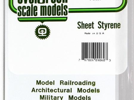 Evergreen 9060 Sheet Styrene Plain 1.5mm