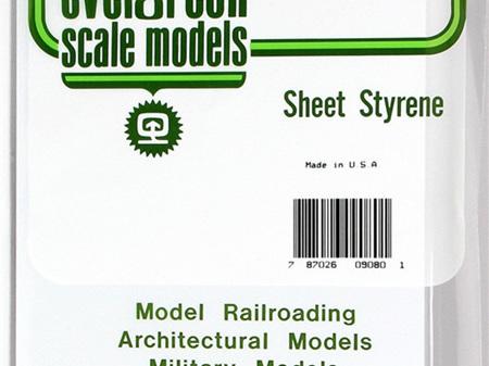 Evergreen 9080 Sheet Styrene Plain 2.0mm