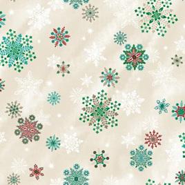 Evergreen Sparkling Snowflakes Vanilla Metallic RJ605VA2M