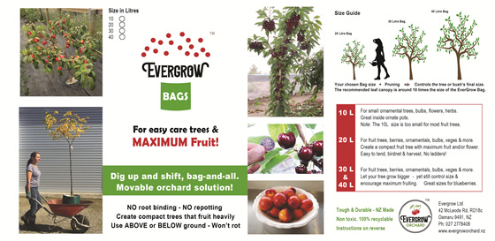 EverGrow Bag label front