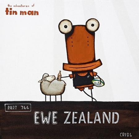 Ewe Zealand 2 in black box frame