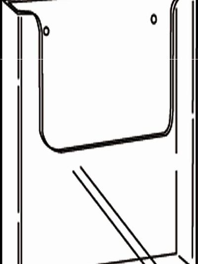 EX12 DLE Single Pocket Brochure Holder