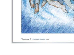 Excerpt from cartoon artprint: women aquajogging