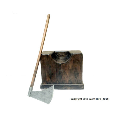 Executioners Chopping Block & Axe