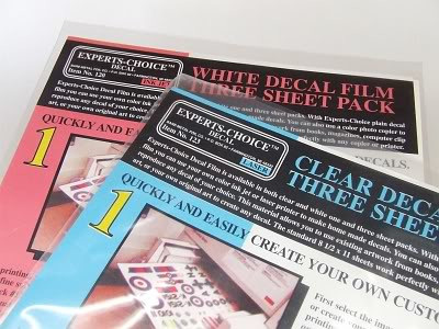Experts Choice Decal Paper - White for Laser