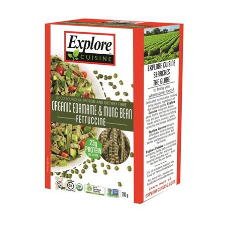 Explore Cuisine Organic Fettuccine Edamame & Mung Bean 200g