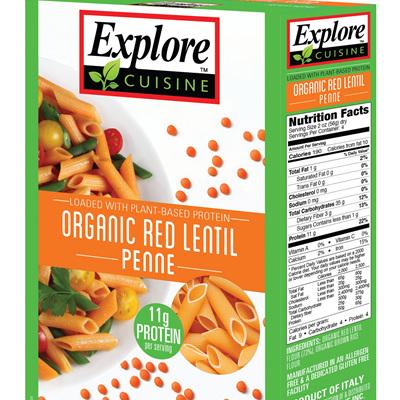 Explore Cuisine Organic Penne Red Lentil 250g