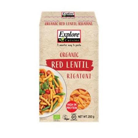 Explore Cuisine Organic Rigatoni Red Lentil 250g