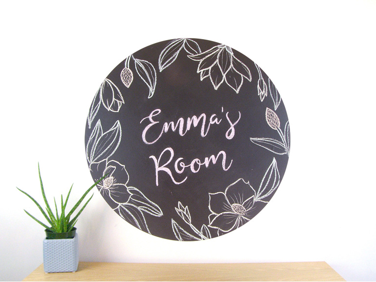 Extra large chalkboard dot wall decal