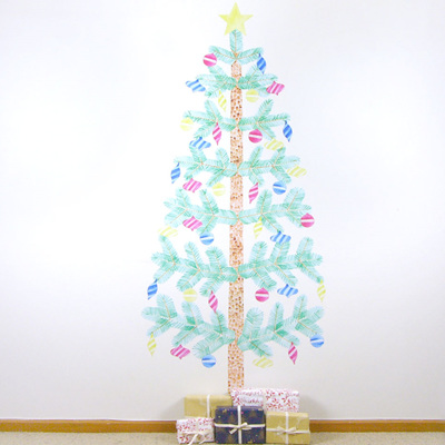 Christmas tree wall decal