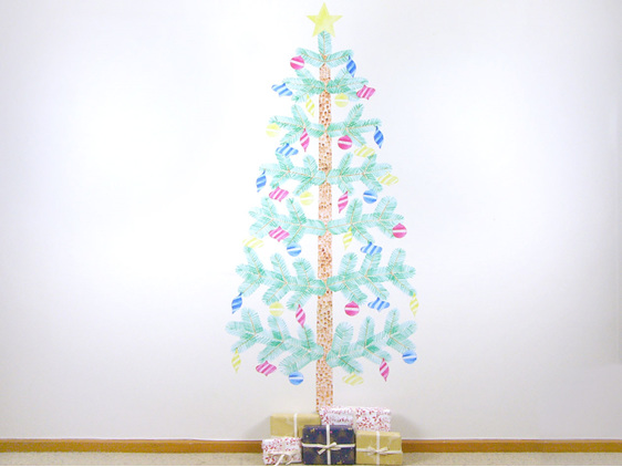 Extra Large Christmas tree wall decal