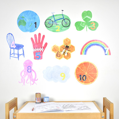 Counting numbers wall decal