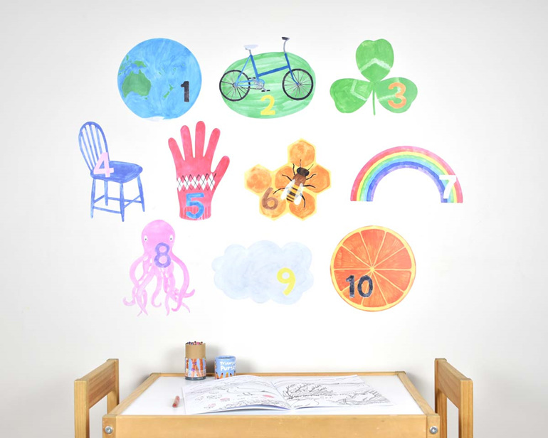 Extra large counting numbers wall decal