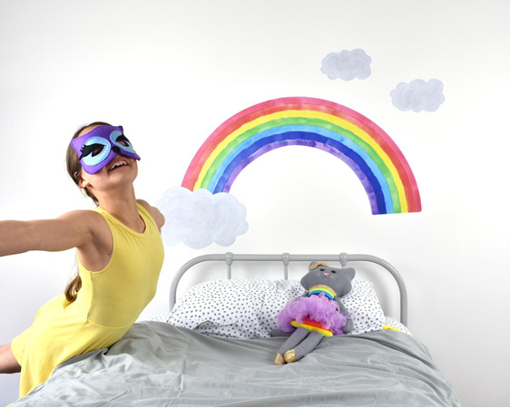 Extra large rainbow wall decal
