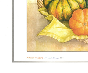 Extract from art print of watercolour painting: Autumn treasure