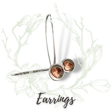 Eye-catching earrings formed from Sterling Silver;  from posts to hoops to elongated hooks designed to stay in place.