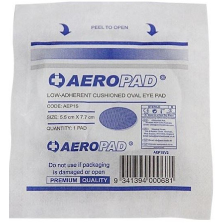 EYE PAD STERILE LOW ADHERENT CUSHIONED OVAL 5.5 X 7.7CM