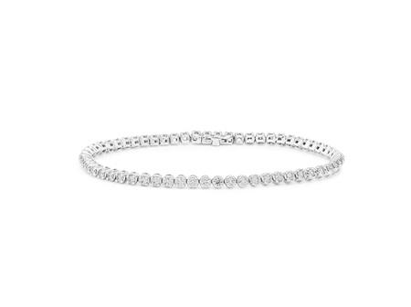 F Colour SI2 Clarity Diamond Tennis Bracelet