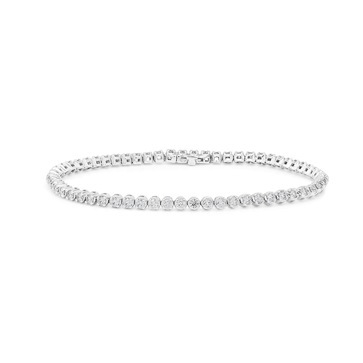 F Colour SI2 Clarity Diamond Tennis Bracelet