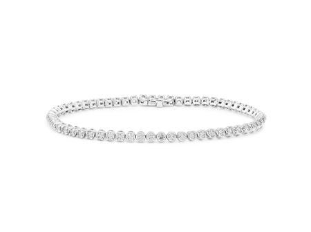 F Colour VS Clarity Diamond Tennis Bracelet
