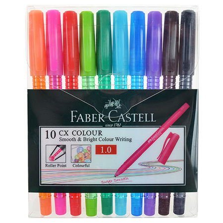 Faber-Castell CX Colour BallPoint Pens - Set 10
