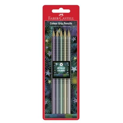 Faber-Castell GRIP Metallic Pencils - 5 Pack