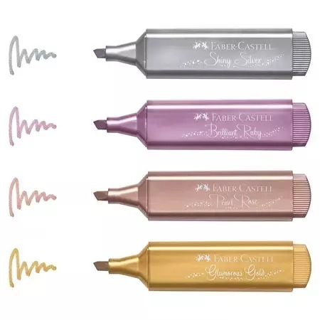 Faber-Castell Metallic Highlighters - 4 Pack