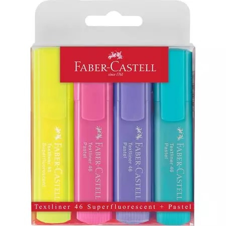 Faber-Castell Pastel Highlighters - 4 Pack