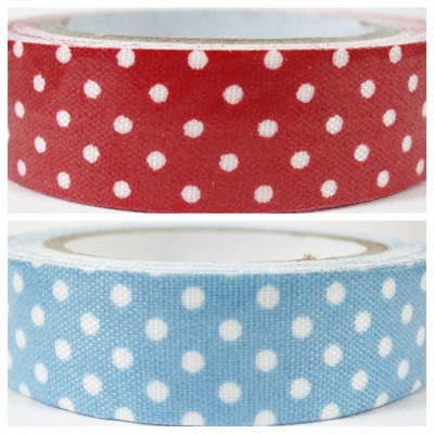 Fabric Adhesive Craft Tape - Polka Dots