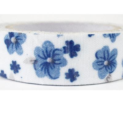 Fabric Adhesive Tape - China Blue Flowers