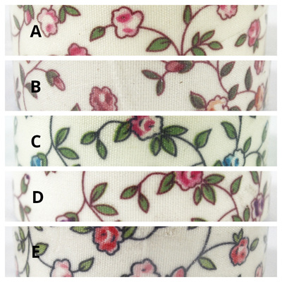 Fabric Adhesive Tape - Flowers & Leaves on Cream Background
