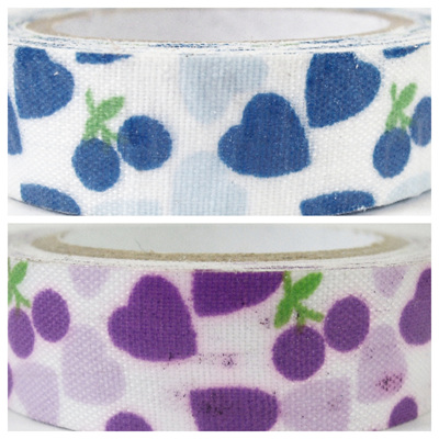 Fabric Adhesive Tape - Hearts & Berries