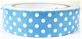 Fabric Adhesive Tape - Polka Dots: Blue