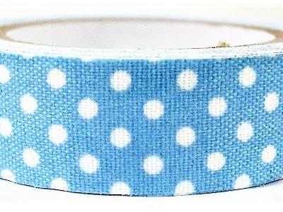 Fabric Adhesive Tape Retro Polka Dots: Blue & White