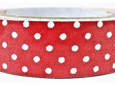 Fabric Adhesive Tape Retro Polka Dots: Red & White