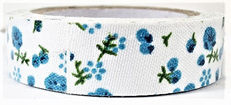 Fabric Adhesive Tape - Turquoise Flowers
