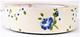 Fabric Adhesive Tape - Vintage Flowers: Blue