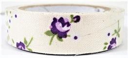 Fabric Adhesive Tape - Vintage Flowers: Purple