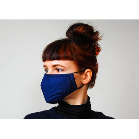 Fabric Mask Blue with Carbon Filter Adult