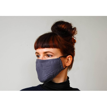 Fabric Mask Grey with Carbon Filter Adult