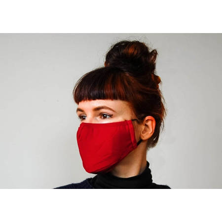 Fabric Mask Red with Carbon Filter Adult