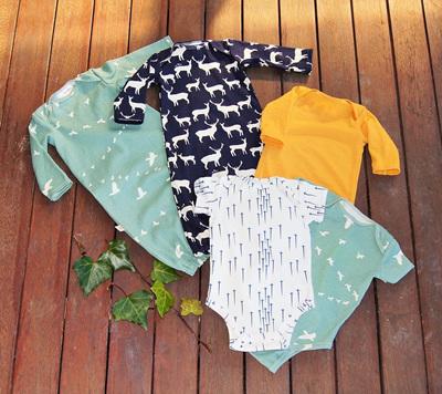 Fabric Selections for Onesies, Sleepsacks, Tops, Tees  and Beanies