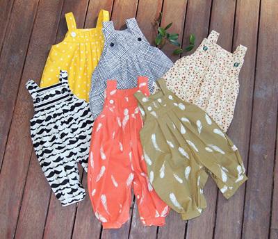 Fabrics:  Box Pleat Rompers/Dresses/Shirts