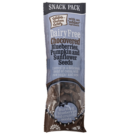 Fabulous Freefrom Factory Chocovered Blueberries and Seeds Snack Pack