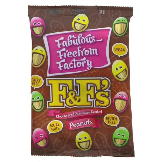 Fabulous Freefrom Factory F&F's Chocolate Covered Peanuts
