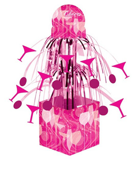 Fabulous Pink Cascade Party Centrepiece