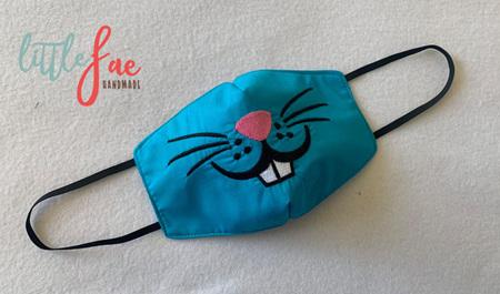 Face Mask Bunny Design 1