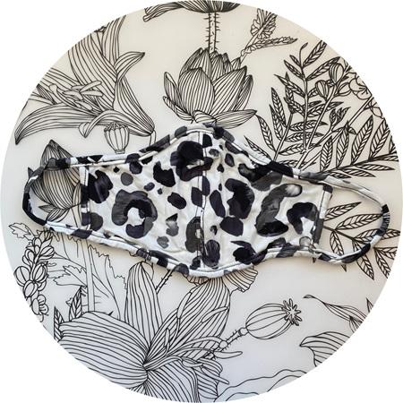 Face Mask B&W Leopard/Rorschach