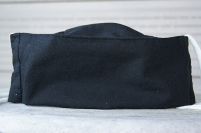 Face Mask in Black 100% Cotton, Size XL (large adult)