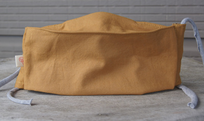 Face Mask in 'Mustard', Size XL (large adult)